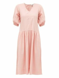 Sea - Rumi V Neck Cotton Dress - Womens - Pink