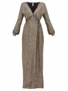 Maria Lucia Hohan - Priela Sequinned Crepe Wrap Dress - Womens - Bronze
