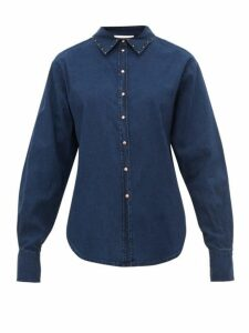 See By Chloé - Studded Cotton Chambray Shirt - Womens - Denim
