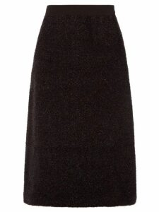 Sara Lanzi - A Line Tinsel Skirt - Womens - Black
