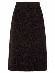 Sara Lanzi - A Line Tinsel Skirt - Womens - Black