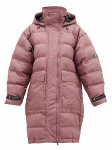 Adidas By Stella Mccartney - Long Padded Hooded Jacket - Womens - Pink