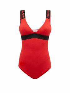Paco Rabanne - Logo Jacquard Jersey Bodysuit - Womens - Red
