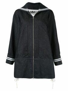Mm6 Maison Margiela oversized denim sports jacket - Blue