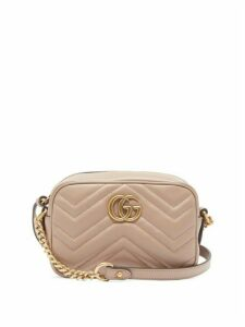 Gucci - Gg Marmont Mini Quilted Leather Cross Body Bag - Womens - Nude