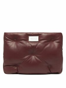 Maison Margiela - Glam Slam Quilted Leather Pouch - Womens - Burgundy