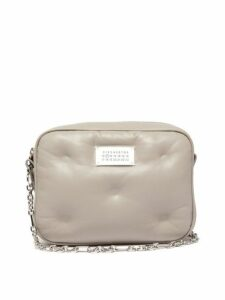 Maison Margiela - Glam Slam Mini Quilted Leather Cross Body Bag - Womens - Grey