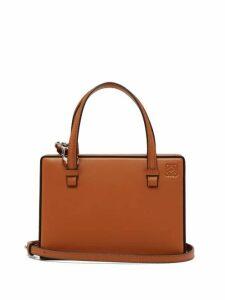 Loewe - Postal Small Leather Bag - Womens - Tan