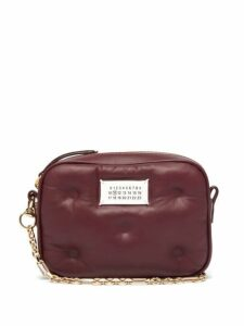 Maison Margiela - Glam Slam Small Quilted Leather Cross Body Bag - Womens - Burgundy