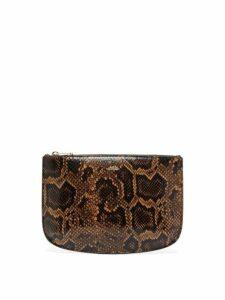A.p.c. - Sarah Python Effect Leather Pouch - Womens - Python