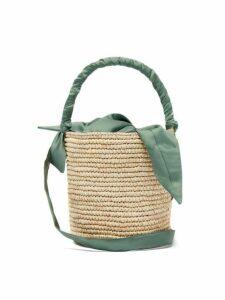 Sensi Studio - X Loulou De Saison Baby Straw Bucket Bag - Womens - Light Green