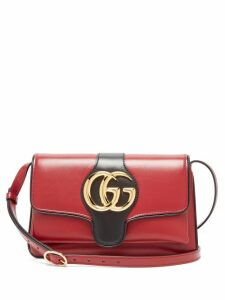 Gucci - Arli Gg Leather Cross Body Bag - Womens - Burgundy Multi