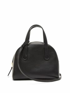 The Row - Sporty Leather Bowling Bag - Womens - Black