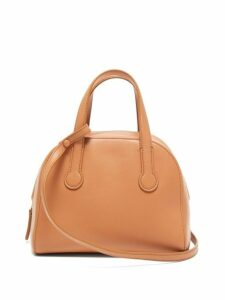 The Row - Sporty Leather Bowling Bag - Womens - Coral