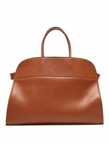 The Row - Margaux 17 Large Leather Tote Bag - Womens - Brown