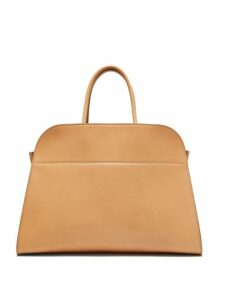 The Row - Margaux 15 Medium Leather Tote Bag - Womens - Beige