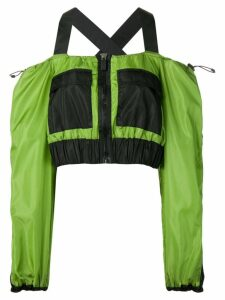 No Ka' Oi cold shoulder sports top - Green