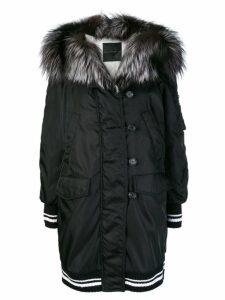 Ermanno Scervino sports trim padded coat - Black