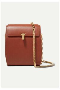 THE VOLON - Po Box Leather Shoulder Bag - Tan