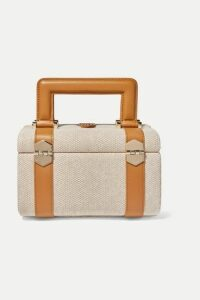 Paravel - Valise Leather-trimmed Cotton-canvas Tote - Tan