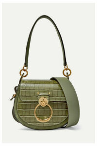 Chloé - Tess Small Croc-effect Leather Shoulder Bag - Army green