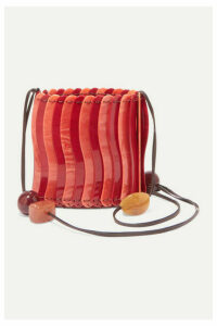 Ulla Johnson - Yadira Beaded Acrylic Shoulder Bag - Red