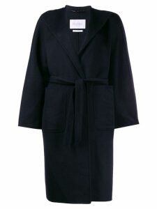 Max Mara belted single-breasted coat - Black