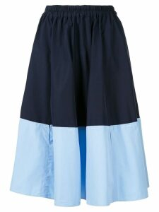 Marni two-tone midi skirt - Blue