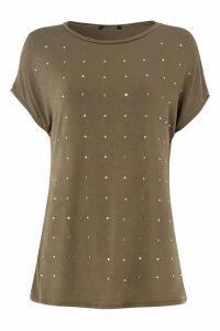 Stud Embellished T-Shirt Top