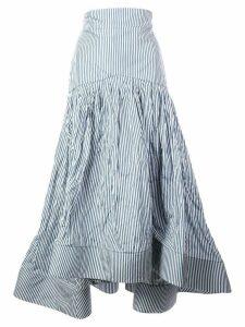 Rosie Assoulin pinstripe fishtail skirt - Blue