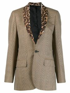 R13 clashing pattern blazer - Brown
