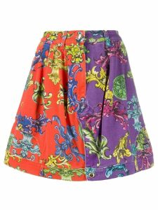 Versace Jeans Couture Baroque pattern skirt - Purple