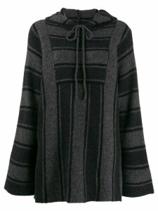 The Row Lina striped hoodie - Black
