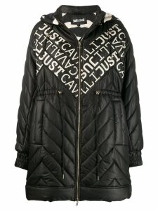 Just Cavalli logo padded coat - Black