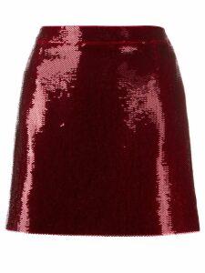 Saint Laurent sequinned mini skirt - Red