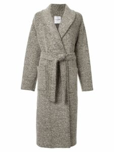 Le 17 Septembre shawl collar coat - Grey