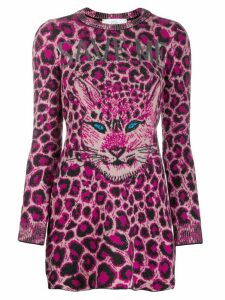 Alberta Ferretti cat face sweater dress - Pink