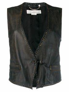 Golden Goose Shiori leather vest - Black
