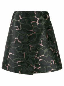 Ea7 Emporio Armani A-line camouflage skirt - Multicolour