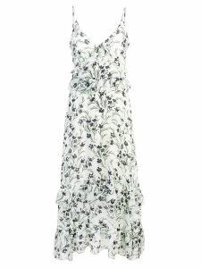 Nicole Miller long floral dress - White