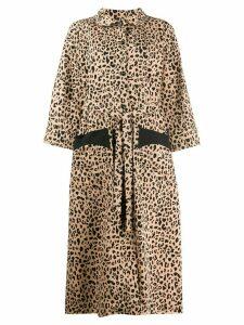 Baum Und Pferdgarten Anny leopard button coat - Neutrals