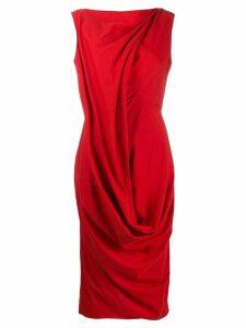 Rick Owens draped design dress - Red