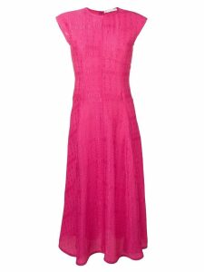 Victoria Beckham cap sleeve linear midi dress - Pink