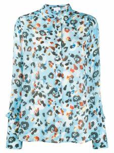 Lala Berlin abstract print shirt - Blue
