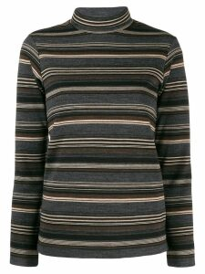 Junya Watanabe turtle neck striped jumper - Neutrals