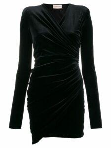 Alexandre Vauthier structured shoulder cocktail dress - Black