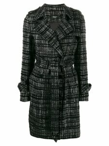 Paule Ka double breasted tweed coat - Black
