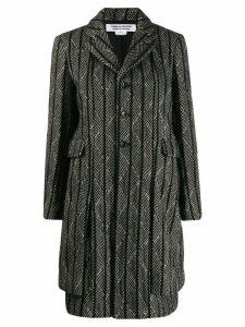 Comme Des Garçons Comme Des Garçons diagonal stripe coat - Black
