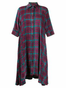 Ultràchic check print shirt dress - Pink