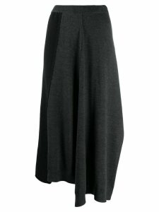 Pringle Of Scotland colour-block flared skirt - Grey
